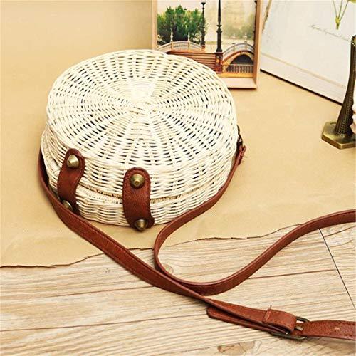 WZ YDTH Mens Shoulder Messenger Bag Business Casual Korean Retro Style,Brown