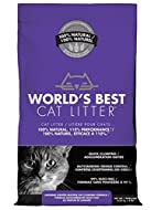World's Best Lavender Scented Fast Clumping Cat Litter - No Chemicals Additives - Ensures that your ...