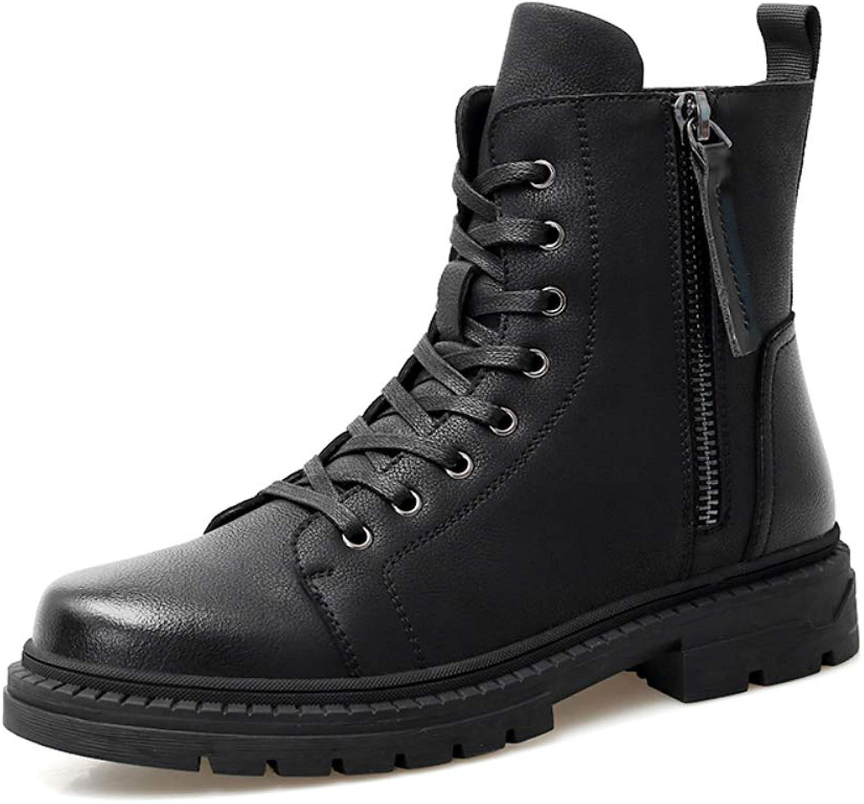 Men's Leather Large Size Combat Boots 36-48 Snow Boots