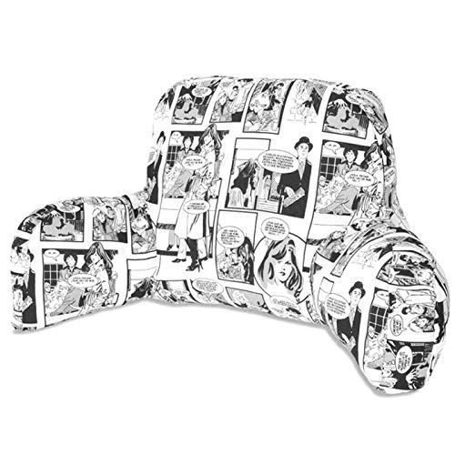 Composición del cojín, Exterior: Algodón 50%, Poliéster 50%, Interior: Fibra Poliéster 100% tacto pluma Medida Respaldo: 53x39cm, Brazos: 36x20cm Perfecto para leer en la cama o en el sofá, como Cojín de Lactancia, o Respaldo Lumbar Sin Cremallera, l...