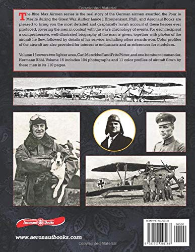 『The Blue Max Airmen: Volume 16 | Menckhoff, Koehl, & Puetter』の1枚目の画像