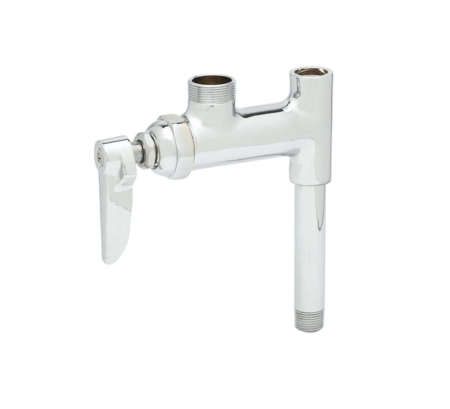T&S Brass B-0155-05LN Add-On Faucet Less Nozzle with Lever Handle and 5-Inch Nipple