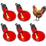 Zunbo - Ciotola per Bere al Pollo, Automatica, Ciotola in plastica per Bere Il pollame, pollame, Acqua Potabile, Tazze, in plastica, taglierina Automatica per pollame, polli, Rosso