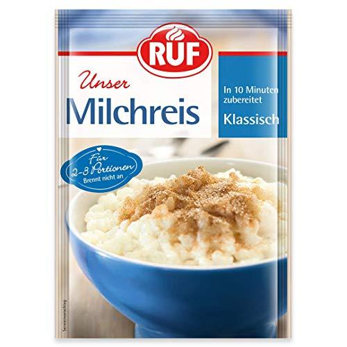 RUF Milchreis Klassisch · in 10 Minuten zubereitet · 16er Pack ( 16 x 125 g Beutel)