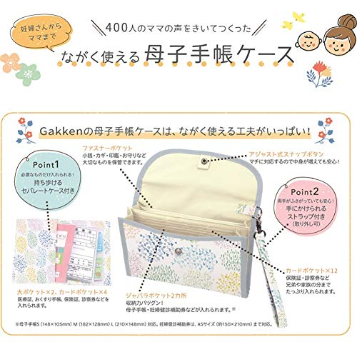 学研ステイフル母子手帳ケースながく使えるスカイF30001