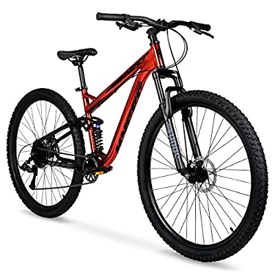"Hyper 29"" Explorer Men's Dual Suspension Mountain Bike, Red"