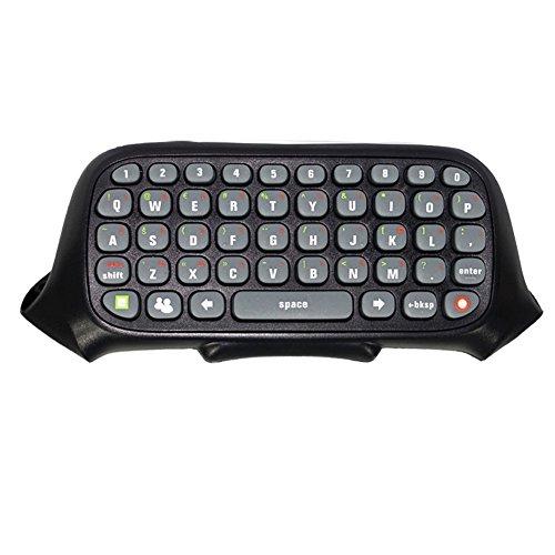 Childhood Negro controlador inalámbrico Messenger Game Keyboard teclado ChatPad para XBOX 360