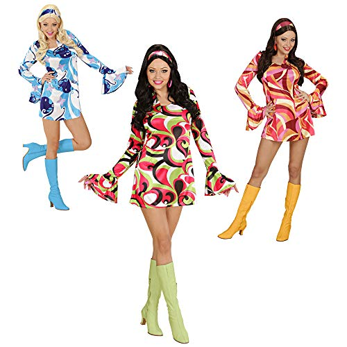 Widmann - Cs925804/m - Costume 70's Chic Colori Assorti Taille M