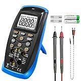 Multímetro Digital Tester, Auto-Raging TRMS 6000 Cuentas Voltímetro Amperímetro Ohmímetro para Voltaje/Corriente CA CC, Ohmios, Capacitancia, Temperatura, Hz, NCV y Diodos Probador Eléctrico