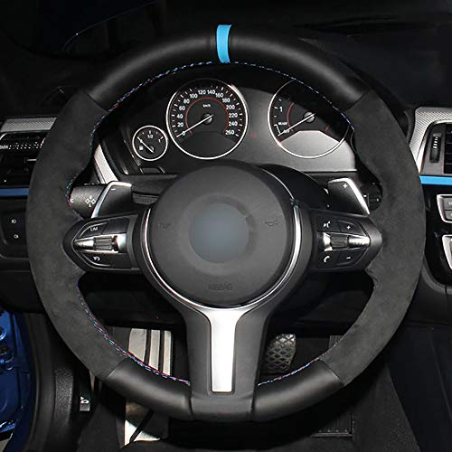 WZJFZPL Cubierta del Volante DIY, para BMW M Sport F30 F31 F34 F10 F11 F07 X1 X2 X3 F25 F32 F33 F36 F48 F39 | Cubiertas de dirección