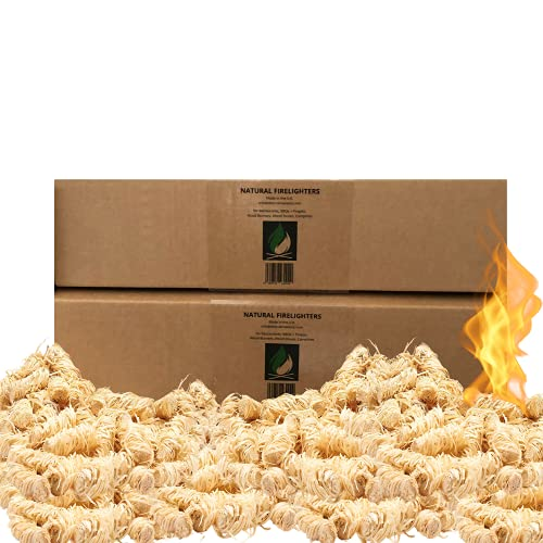 Chemical Free ECO Wood Firestarter Rolls with Beeswax   200 Pieces   FSC Materials   for stoves, fireplaces, Open Fires, fire-pits, chimineas, Camping Packs and BBQs (200)