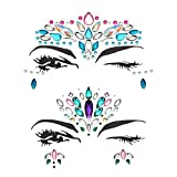 Facial Set Beautiful Resin Eye Sticker Adhesivo de frente Adhesivo de gema impermeable