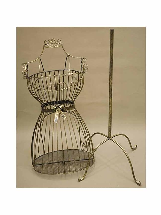 展開するピーク服を片付けるマネキン ボディ トルソー 姫家具 :interior-ak-SA881874 (ダークゴールド)