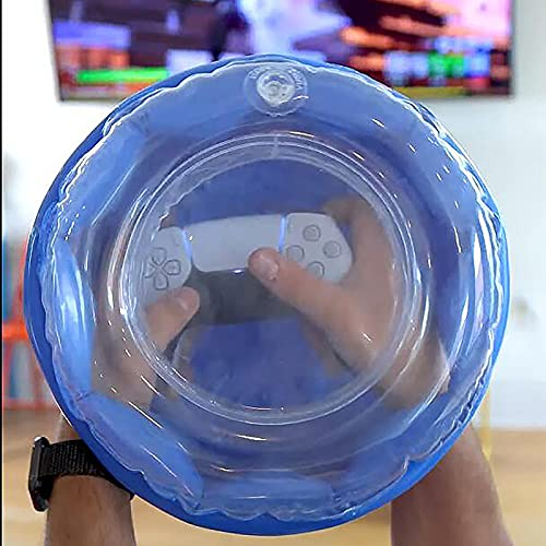 Rage Quit Protector,360° Inflatable Contraption Protects for Games Controllers,Transparent Inflatable Gaming Controller Cover, 360° Protective Container for Protect Controllers from Gamer Rage (Blue)