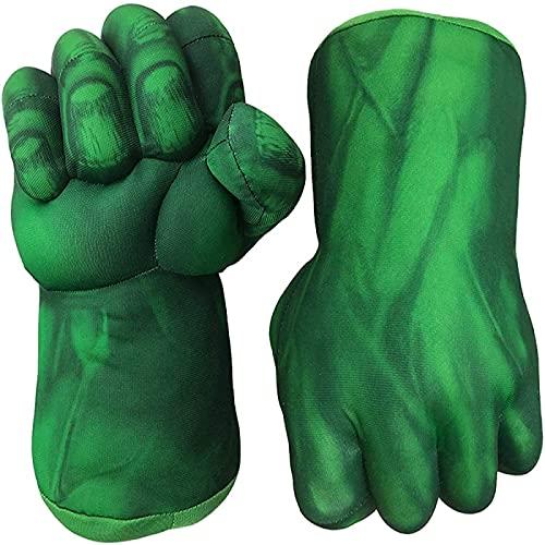 YIJIN 2 Uds Guantes De Hulk, Manos De Hulk, Guantes De Entrenamiento De Boxeo De Felpa Suave Grande para Niños, Disfraz De Cosplay para Niños, Cumpleaños, Navidad,Green