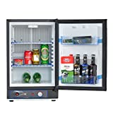 Smad Small Propane Fridge 3 Way Refrigerator for RV Outdoor Camper Gas 110V 12V,1.4 Cu.ft.