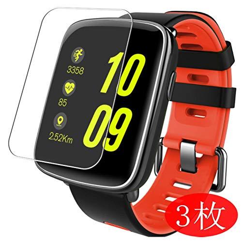 Vaxson 3 Stück Schutzfolie kompatibel mit Smartwatch smart Watch GV68 1.54, Displayschutzfolie Bildschirmschutz Blasenfreies TPU Folie [Nicht Panzerglas]