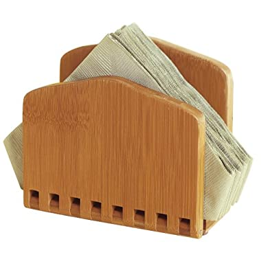 Lipper International 8860 Bamboo Wood Adjustable Napkin Holder, 6-1/2  x 3-1/4  x 6