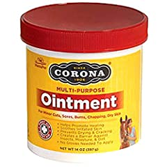 Corona Ointment provides a favorable environment for the rapid healing of cuts, abrasion, sores, etc., with minimal scaring. Clinical tests, conducted at leading veterinary college, have demonstrated Corona's effectiveness in the healing of minor wou...