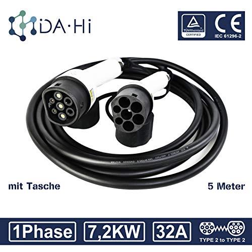 Cable de carga de EV para Vehículos eléctricos e híbridos tipo 2...