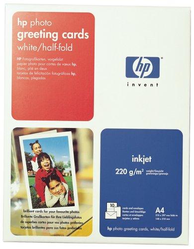 HP C6045A Fotogrußkarten, vorgefalzt, DIN A4, 220g/m², 10x Grußkarten/Umschläge