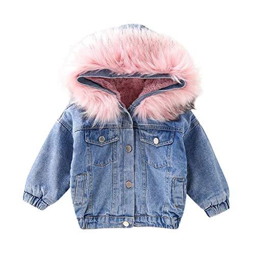 Fulltime (TM) - Abrigo de Vaquero para bebé, Chaqueta de Invierno de otoño más Terciopelo Grueso cálido para niños y niñas de 1 a 6 años