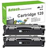 Aztech Compatible Toner Cartridge Replacement for Canon 120 Toner Cartridge 120 for Canon ImageClass D1120 D1150 D1100 D1170 D1180 D1320 D1350 D1370 D1520 D1550 Laser Printers (Black, 2-Pack)