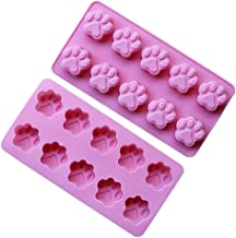 2 Pack Value Silicone Molds Mini Pet Paw Print Animal Paw Print for Homemade Dog Treats, Baking Chocolate Candy, Oven Micr...