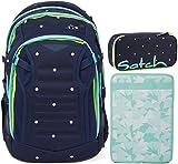 Satch Match Pretty Confetti 3er Set Schulrucksack, Schlamperbox & Heftebox Mint