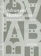 Saxon Advanced Mathematics: An Incremental Development, Test Forms
