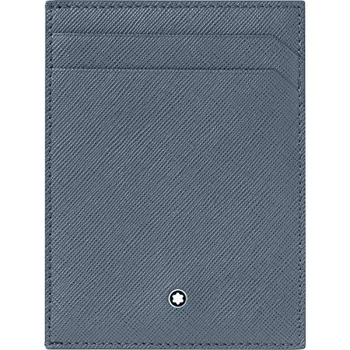 Montblanc custodia tascabile 4 scomparti con portadocumento Montblanc Sartorial denim blu 124187