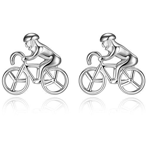 Honey Bear bicicleta ciclista bicicleta ciclismo Gemelos para Hombre Camisa - bike cyclist bycycle cycling Para Boda negocio Regalo (plata)