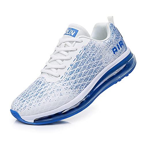 Axcone Laufschuhe Damen Herren Turnschuhe Sportschuhe Schuhe Air Cushion Sneaker Freizeit Training Fitness Gym 8998-WT 43