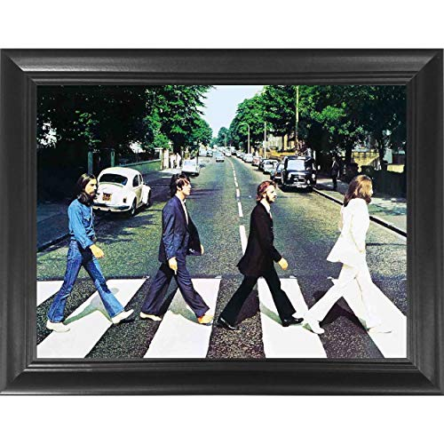 The Beatles Abbey Road 3D Poster Wall Art Decor Framed Print | 14.5x18.5 | Lenticular Posters & Pictures | Memorabilia Gifts for Guys & Girls Bedroom | John Lennon & George Harrison Band Music Album