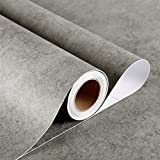 Stickyart 36'x160' Thick Grey Contact Paper Textured Concrete Countertop Contact Paper Waterproof Oil Proof Self Adhesive Concrete Contact Paper for Furniture Grey Wall Covering Industrial Decorative