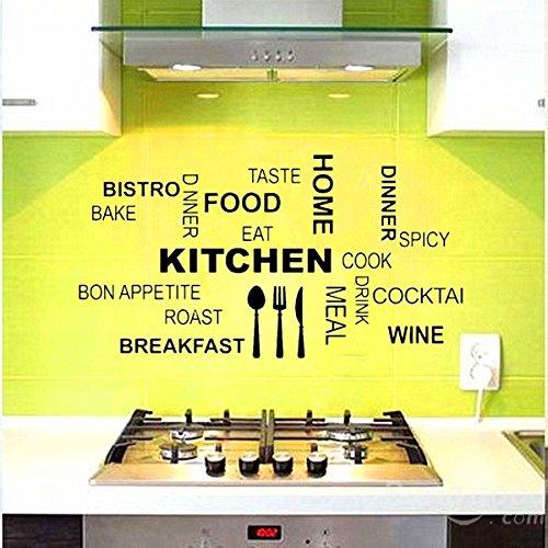 PhilMat Mur de la cuisine maison de texte décoration sticker papier peint amovible