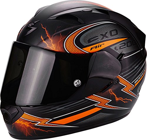 Scorpion Helm Motorrad exo-1200 Air Fulgur, matt black/orange, S