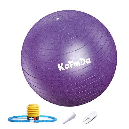 ZM - Pelota de ejercicio con bomba de pie (65 cm, extra gruesa), pelota de yoga, pelota suiza para yoga, pilates, fitness y gimnasia
