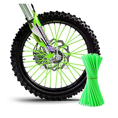 YINLONG Long Motorcycle Dirt Bike Enduro Off Road Rueda Rueda Rueda Skins Fit For Honda CRF 450 CR CRF XR XL 85 125 250 KTM Kawasaki Yamaha BMW (Color : Green)