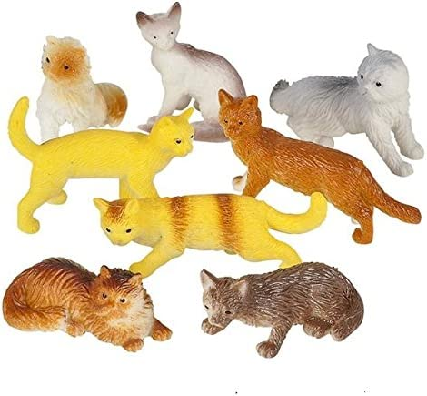 Rhode Island Novelty 12 Free Shipping New Indefinitely PVC 2.5-inch Assorted Cats