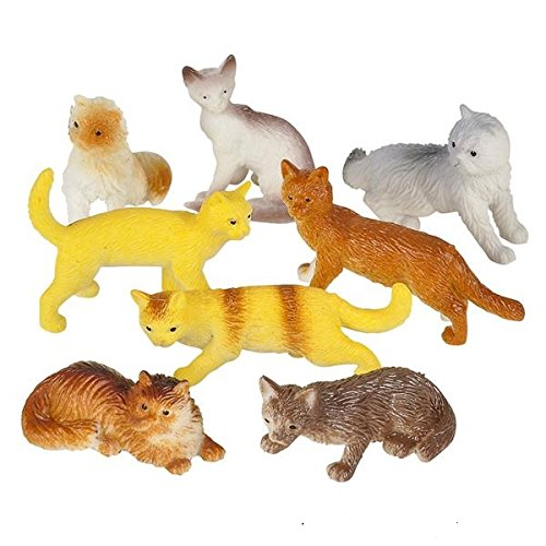 Price comparison product image Rhode Island Novelty 12 Assorted Cats (2.5-inch PVC)