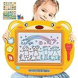 Peradix Ardoise Magique 43X35cm Tableau à Dessin magnétique effaçable coloré pour Enfants et...