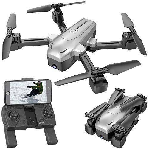 Simulus Drohne: Faltbarer GPS-Quadrocopter mit 4K-Kamera, WLAN, Follow-Me, Gyroskop (Drohne 4K)