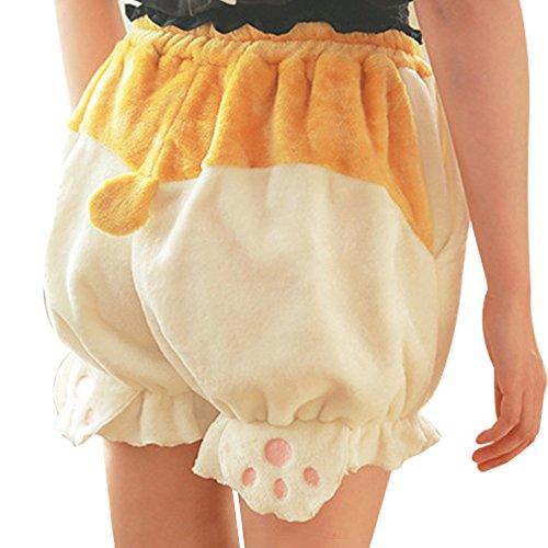 TOMORI Cute Bloomers Corgi Butt Pants Lolita Pajama Shorts Animal Loungewear Sleepwear, As the Picture, One Size