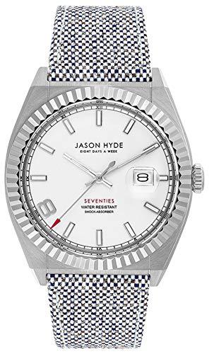 Jason hyde i Have a Date Reloj para Mujer Analógico de Cuarzo con Brazalete de Ropa JH30000