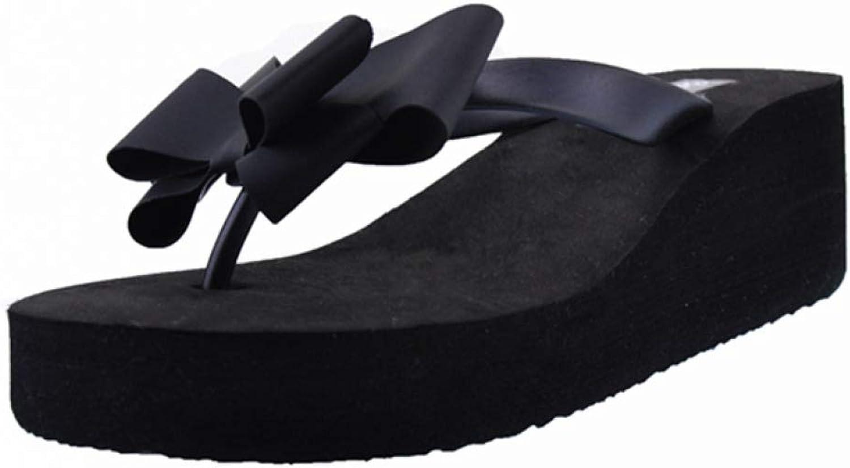 MEIZOKEN Women Slippers Flip Flops Butterfly Knot Slides Casual Slip On shoes Platform Beach Slipper Wedge shoes