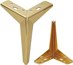 4 stuks tafelpoten, driehoek meubelpoten vervanging metalen meubelpoten roestvrij staal, rubberen pad No-Slip Silent, salo...