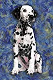 Dalmation: Notebook Blank College-Ruled Lined in Van Gogh Starry Night Art Style (6 x 9 Dog Journals for Writing Journaling & Note-taking)