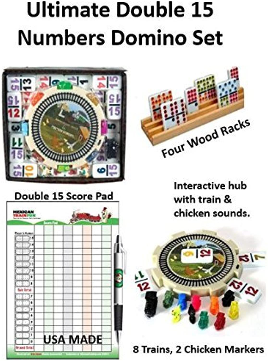 Mexican Train Double 15 Ultimate Numbers Set by Mexicantrainfun