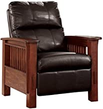 Ashley Furniture Signature Design - Santa Fe Recliner - Manual Reclining Chair - Chocolate Brown